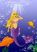 Piękne syrenki z konika morskiego — Zdjęcie stockowe