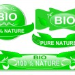 Royalty-Free Stock Vector Image: Set of bio sticker