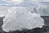 Chunks of ice in Iceland — Photo