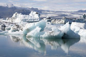 Icebergs in Jokulsarlon Iceland — Photo
