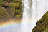 Rainbow at waterfall — Stock Photo