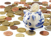 Piggy bank with euros — Stock Photo