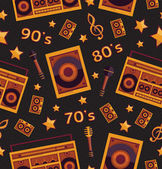 Retro music elements pattern — Vetorial Stock