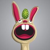 Funny Bunny — Stock Vector