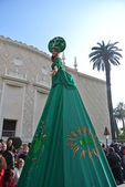 Menton: the woman in the green — Stock Photo