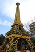 Festival of gold fruit - Eiffel Tower — Stock Photo