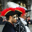 Stock Photo: Two in hats with plumes