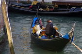 Gondolas in Venice-1 — Stock Photo