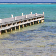 Dock In The Caribbean Sea — Stock Photo
