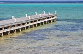 Dock In The Caribbean Sea — Stock Photo
