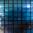 Slightly transparent factory window — Stock Photo