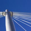 Bridge pylon and blue sky — Stock Photo