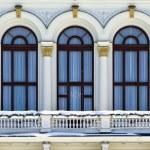 Balcony of a Tampere city hall — Stock Photo