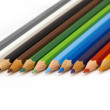 Wooden colour pencils — Stock Photo