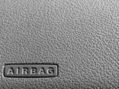 Airbag sign on a dashboard — Stock Photo