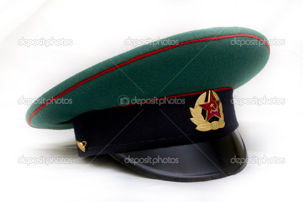 Soviet border guard cap — Stock Photo #9761161