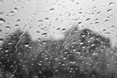 Rain drops on glass — Stock Photo