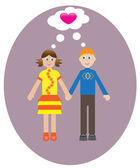 Boy and girl — Stock Vector