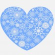 Stock Vector: Heart with snowflakes