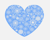 Heart with snowflakes — Stock Vector