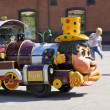 Children's steam locomotive — Stock Photo