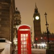London Telephone Booth and Big Ben — Stock Photo #10230738