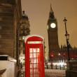 cabine telefônica de Londres e o big ben — Foto Stock