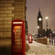 London Telephone Booth and Big Ben — Stock Photo #10230746