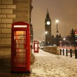 Londen Phone booth en de big ben — Stockfoto