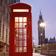 Londen Phone booth en de big ben — Stockfoto #10230764
