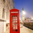 Stock Photo: London Telephone Booth and Big Ben