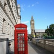 Big Ben and Red Phone Booth — Stock Photo
