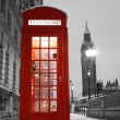 Londen Phone booth en de big ben — Stockfoto #10237968
