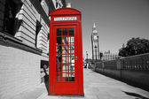 Big Ben and Red Telephone Booth — Stock Photo