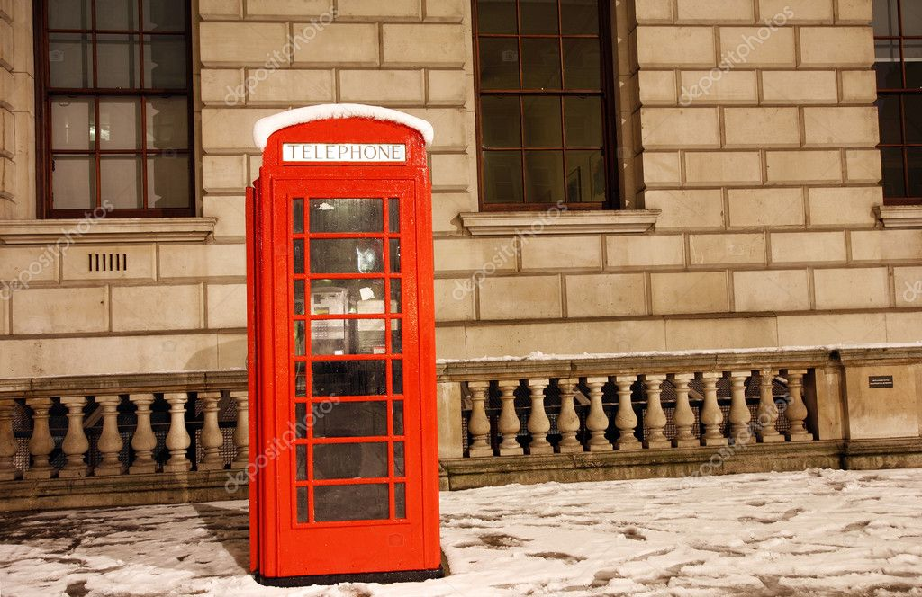 London Red Telephone Booth at dawn  Stock Photo #10230712