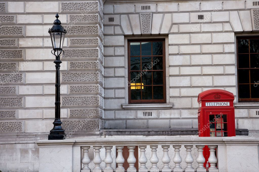 London Red Phone Booth around parliament square — Стоковая фотография #10232153