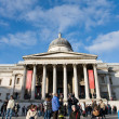 Stock Photo: Crowds outsite of National Gallery