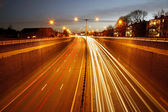Traffic Road at Night — Stock Photo
