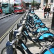 London's bicycle sharing scheme - Foto de Stock