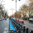 Foto Stock: London's bicycle sharing scheme