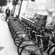 London's bicycle sharing scheme — Stock Photo