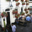 Outside view of a english pub - Stock Photo