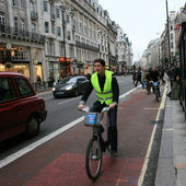 ロンドンの自転車共有方式 — ストック写真