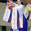 Korean ethnic dance performance - Stock Photo