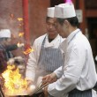Stock Photo: Chinese chefs work at Chinese New Year celebrations