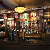 Inside view of a english pub — Stock Photo