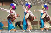 Korean ethnic dance performance — Stock Photo