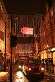 在伦敦的圣诞装饰 — 图库照片