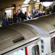 Inside view of the London underground — Stock Photo