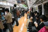 Inside view of Seoul Metropolitan Subway — Stock Photo